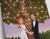 Illustration for wedding invitation