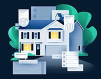 Housing Website Illustration
