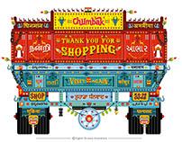 Truck Art for Billing counter (Test For Chumbak)
