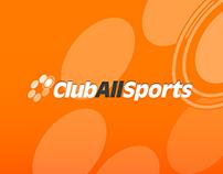 ClubAllSports Brand development , website + UX & UI