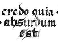 credo - calligraphy