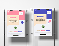 Clasps Posters Mockup Free