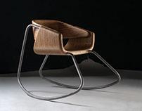 """rocking"" chair MT7 / pohupovací židle MtT7"
