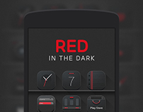 'Red in the dark' Icon set & Wallpapers