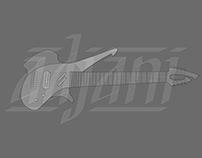 Calligraphy Signature Guitar Inlay
