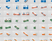 Z-Fold Brochure Mockup Bundle