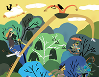 Labirint.ru calendar 2018 illustrations