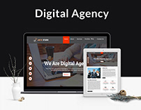 Digital Agency Website Land Page Design