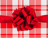 Plaid Gift Wrap Print Design & Product Mock Up