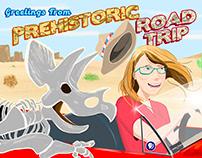 Prehistoric Road Trip postcard