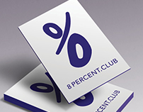 Logo design 8 percent club