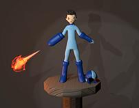 Mega Man - Modelagem 3D