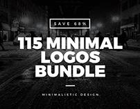 115 Minimal Vintage Logos Bundle [SAVE 68%]