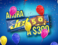 50 años chocolatina Jet