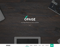 OPAGE - One Page PSD Template for Personal and Agency