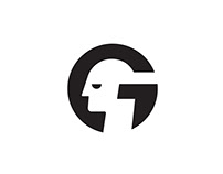 Letter G + Human Head / Face Logo Design.