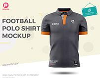 Football Polo Shirt Mockup