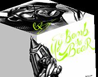 MY BOMB TO BEAR retail box design