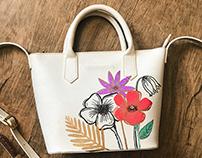 customização bags // couro fino