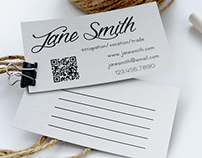 QR Code Multi-Purpose Business Card