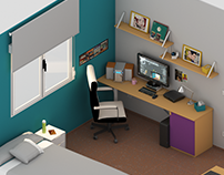 Low Poly Workplace