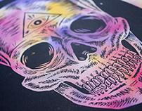 Skull engraved