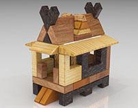 Atap lipat kajang wooden toy