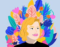 Illustration of Sylvia Plath