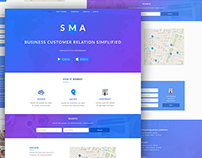Website design for SMA Product Pgae