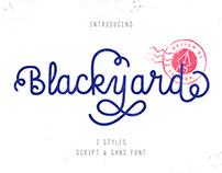 Blackyard Script & Sans Font