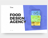 Food Design Agency Landing Page web view 2