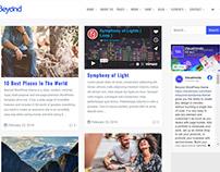 Beyond WordPress Theme Blog Masonry Right Sidebar
