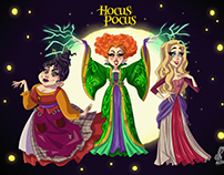 Hocus Pocus Sisters Design Character