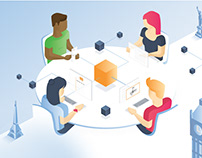 International collaboration tool — Illustrations & Web