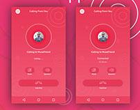 Calling App Screen