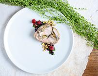 Chicken roulade & pistachios