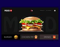 Burger mood UI/UX design