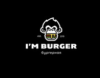 The I'm Burger logo and identity