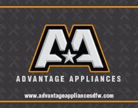 Advantage Appliances Business Card Design