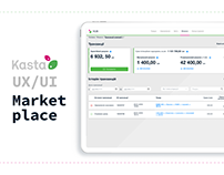 Marketplace system: UX/UI online platform for suppliers