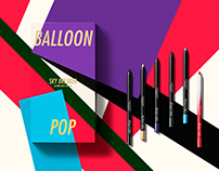Glo&Ray Makeup Cosmetics/ Ballon Pop Sky Break Eyeliner