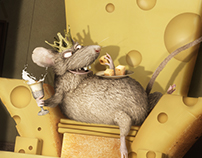 Crazy mouse King - Photo manipulation / 3d