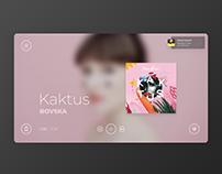 Modern music player app for tablet & desktop