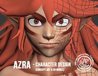 """""""Azra"""" (2D & 3D Character Design)"""