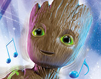 Dancing Groot. CGI & Retouching
