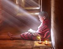 Reading Monk | Paint Practice