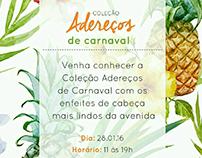 Convite digital para lançamento - Carnaval Elementais
