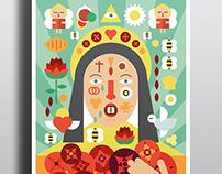 Ilustración de Santa Rita | Saint Rita Illustration