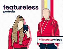Featureless Portraits - Vector Illustration