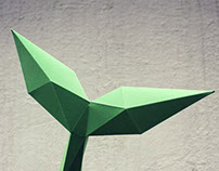 Papercraft whale